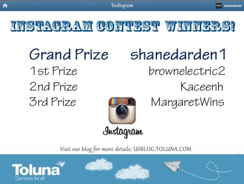 instagram winners