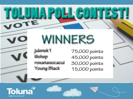 Poll Contest August 2013 Winners V2