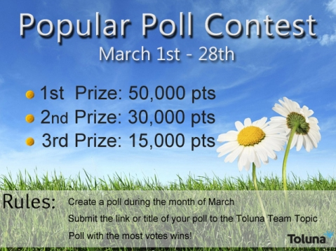 March 2014 Popular Poll Contest
