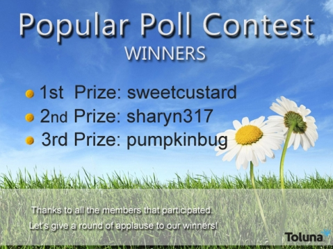 March 2014 Popular Poll Contest winners