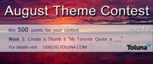 Aug Theme Contest week 1