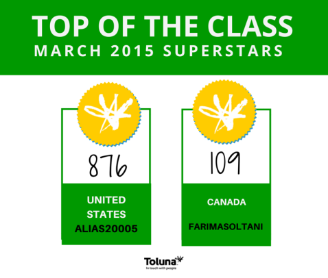 march top of the class