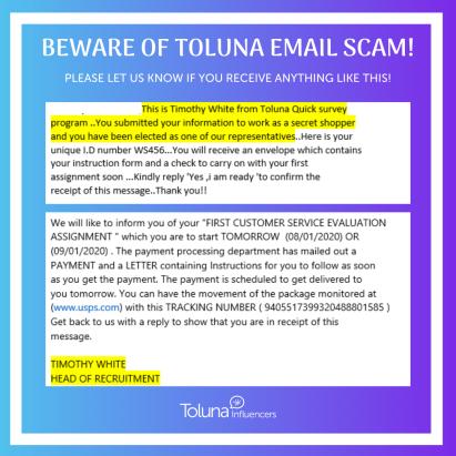 BEWARE OF TOLUNA EMAIL SCAM! (1)